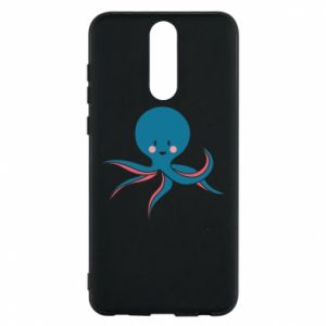 Phone case for Huawei Mate 10 Lite Cute blue octopus with a smile - PrintSalon