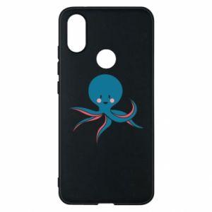 Phone case for Xiaomi Mi A2 Cute blue octopus with a smile - PrintSalon