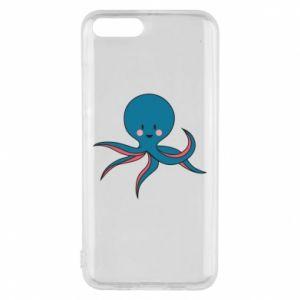 Phone case for Xiaomi Mi6 Cute blue octopus with a smile - PrintSalon