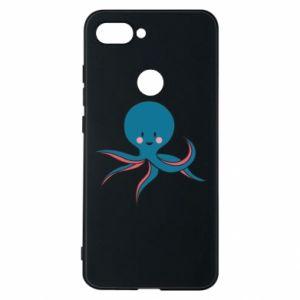 Phone case for Xiaomi Mi8 Lite Cute blue octopus with a smile - PrintSalon