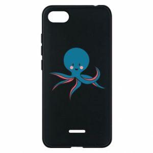 Phone case for Xiaomi Redmi 6A Cute blue octopus with a smile - PrintSalon