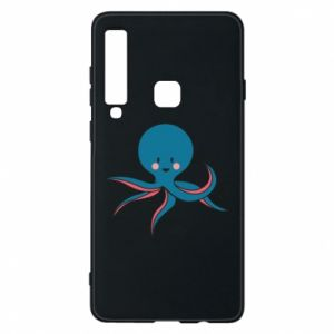 Phone case for Samsung A9 2018 Cute blue octopus with a smile - PrintSalon