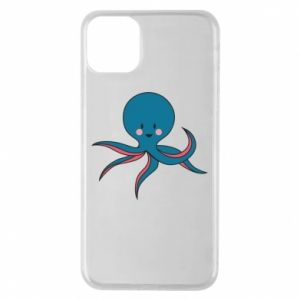 Phone case for iPhone 11 Pro Max Cute blue octopus with a smile - PrintSalon