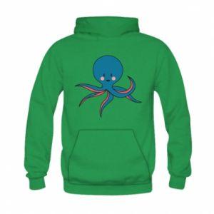 Bluza z kapturem dziecięca Cute blue octopus with a smile