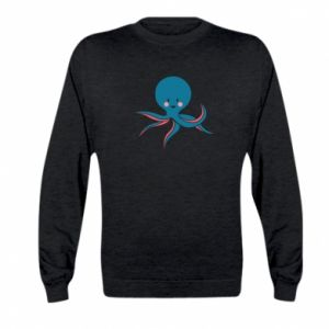 Bluza dziecięca Cute blue octopus with a smile