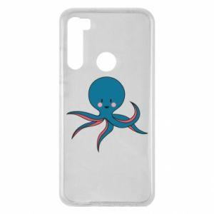Etui na Xiaomi Redmi Note 8 Cute blue octopus with a smile