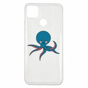 Etui na Xiaomi Redmi 9c Cute blue octopus with a smile