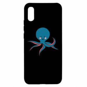 Etui na Xiaomi Redmi 9a Cute blue octopus with a smile