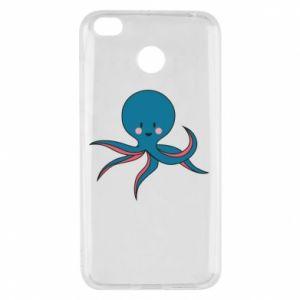 Etui na Xiaomi Redmi 4X Cute blue octopus with a smile