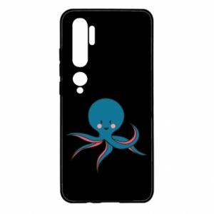 Etui na Xiaomi Mi Note 10 Cute blue octopus with a smile