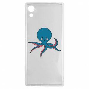 Etui na Sony Xperia XA1 Cute blue octopus with a smile