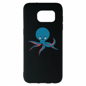 Etui na Samsung S7 EDGE Cute blue octopus with a smile