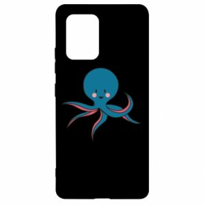 Etui na Samsung S10 Lite Cute blue octopus with a smile
