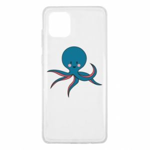 Etui na Samsung Note 10 Lite Cute blue octopus with a smile