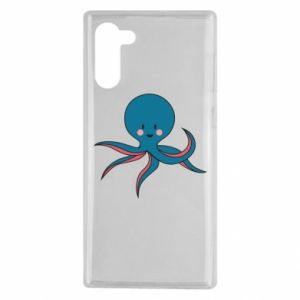 Etui na Samsung Note 10 Cute blue octopus with a smile