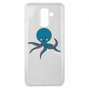 Etui na Samsung J8 2018 Cute blue octopus with a smile