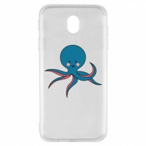 Etui na Samsung J7 2017 Cute blue octopus with a smile