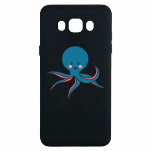 Etui na Samsung J7 2016 Cute blue octopus with a smile