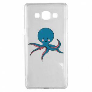 Etui na Samsung A5 2015 Cute blue octopus with a smile