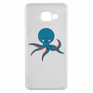 Etui na Samsung A3 2016 Cute blue octopus with a smile