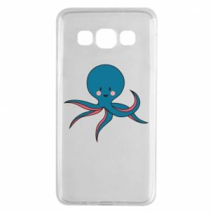 Etui na Samsung A3 2015 Cute blue octopus with a smile