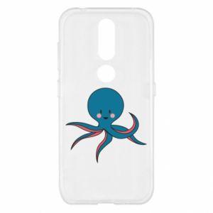 Etui na Nokia 4.2 Cute blue octopus with a smile