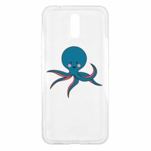 Etui na Nokia 2.3 Cute blue octopus with a smile