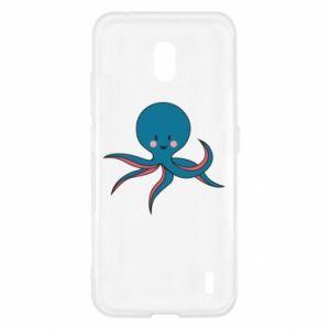 Etui na Nokia 2.2 Cute blue octopus with a smile