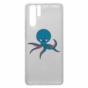 Etui na Huawei P30 Pro Cute blue octopus with a smile