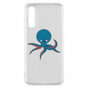 Etui na Huawei P20 Pro Cute blue octopus with a smile