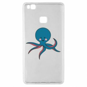 Etui na Huawei P9 Lite Cute blue octopus with a smile
