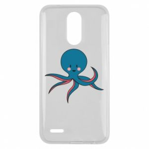 Etui na Lg K10 2017 Cute blue octopus with a smile