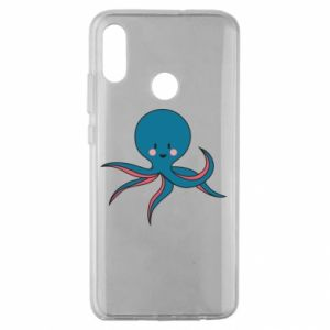Etui na Huawei Honor 10 Lite Cute blue octopus with a smile
