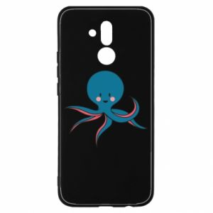 Etui na Huawei Mate 20 Lite Cute blue octopus with a smile