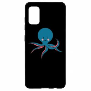 Etui na Samsung A41 Cute blue octopus with a smile