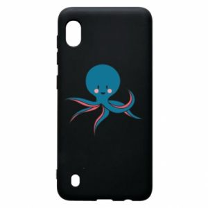 Etui na Samsung A10 Cute blue octopus with a smile