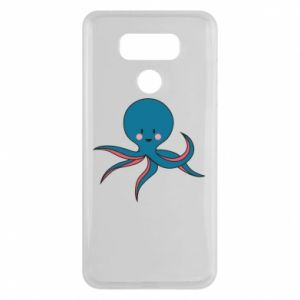Etui na LG G6 Cute blue octopus with a smile