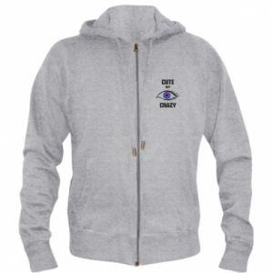 Men's zip up hoodie Cute but crazy