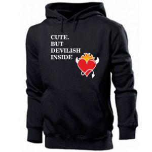Men's hoodie Cute but devilish inside