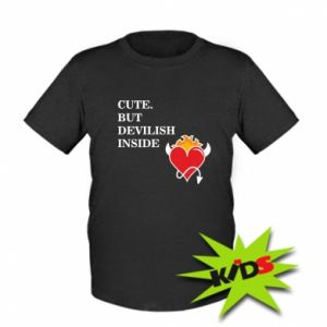 Dziecięcy T-shirt Cute but devilish inside