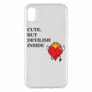 Etui na iPhone X/Xs Cute but devilish inside