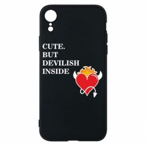 Etui na iPhone XR Cute but devilish inside