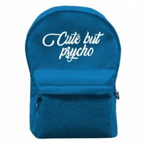 Plecak z przednią kieszenią Cute but psycho