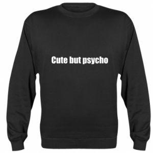 Bluza (raglan) Napis: cute but psycho