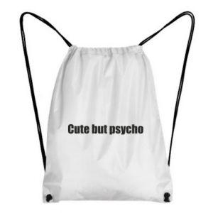 Plecak-worek Napis: cute but psycho