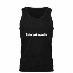 Męska koszulka Napis: cute but psycho