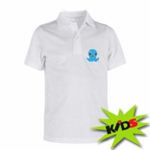 Dziecięca koszulka polo Cute jellyfish - PrintSalon