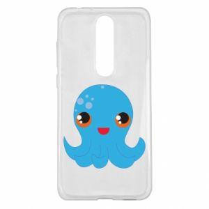 Etui na Nokia 5.1 Plus Cute jellyfish