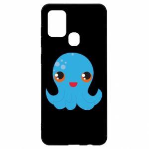 Etui na Samsung A21s Cute jellyfish