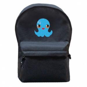 Plecak z przednią kieszenią Cute jellyfish - PrintSalon
